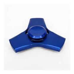 hand fidget metal bleu