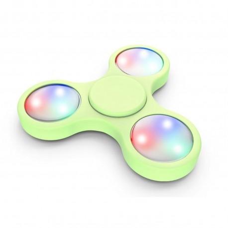 hand spinner LED vert
