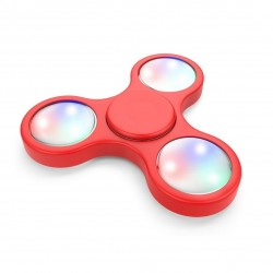 hand spinner LED rouge