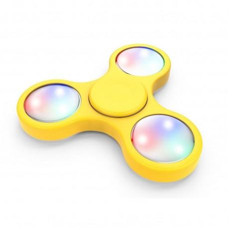 hand spinner LED jaune