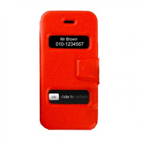 coques double slide up rouge