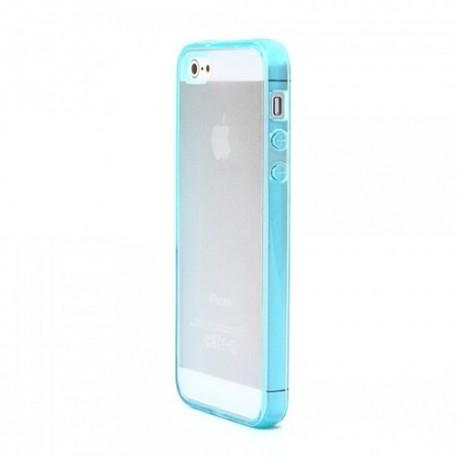 coques transparents bleu