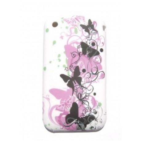 coques motif violet noir blanc