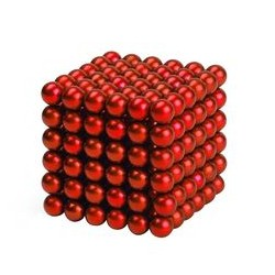 cube magnetique rouge