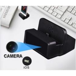 station de charge iphone noir camera IP P2P wifi