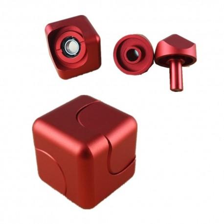 hand fidget magic cube rouge